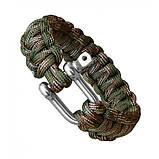 Паракордовый браслет со стальной пряжкой, фото 6