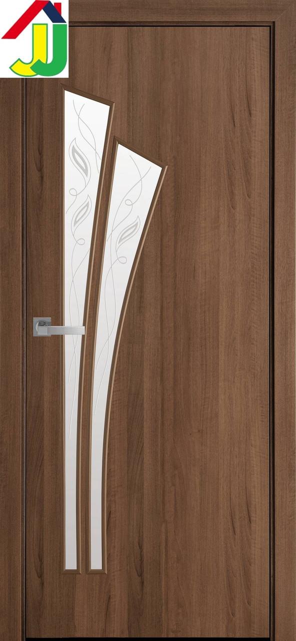 Двері міжкімнатні Новий стиль Лілія Р3 Екошпон Модерн Вільха