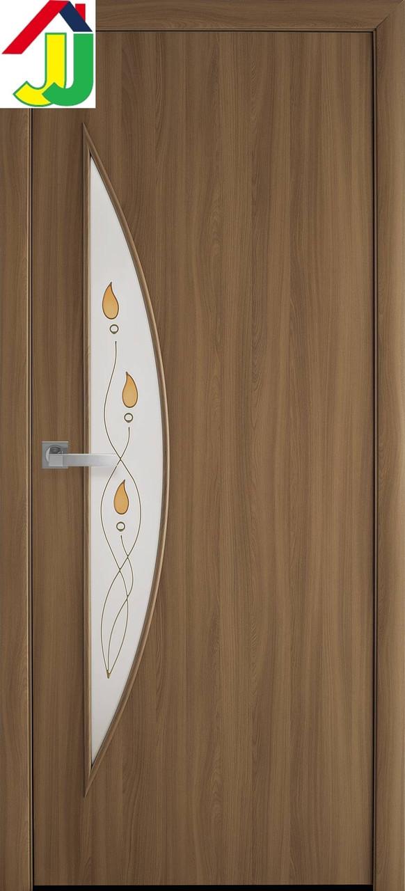 Двері міжкімнатні Новий стиль Місяць Р1 Екошпон Модерн Вільха 3D