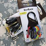 Набор пластиковых карабинов Nite Ize Key Rack, фото 9