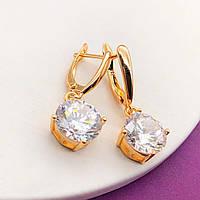 Серьги Xuping Jewelry Британи медицинское золото позолота 18К английский замок А/В 1-0051