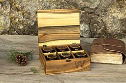 Іменна коробочка для годинника з дерев'яною кришкою. Оригінальний подарунок коханому хлопцеві чоловікові братові одного боса