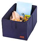 Ящик-органайзер для зберігання речей M (синій), фото 5