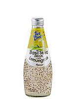 Напій із соку Лемонграса з додаванням насіння базиліка Jus Cool 300 мл