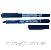 Ручка роллер Deli EQ20020 Think 0,5мм черная 77580