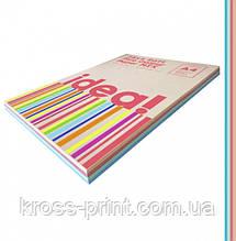 Набір кольорового паперу Pale Colour mix SOFT 25х4 трудова книжка, А4 80 г/м 100л idea!