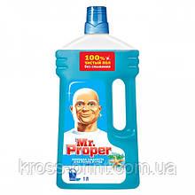 Моющее средство для уборки Мистер Пропер Океан 1л жидкий 12шт/уп