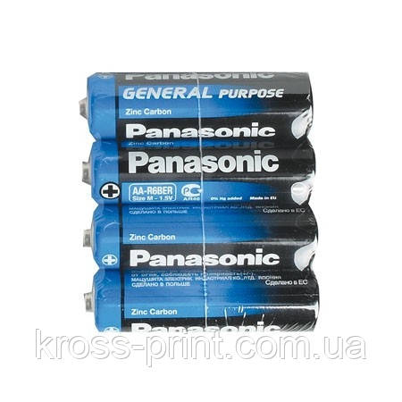 Батарейка R-06 1х4шт shrink PANASONIC General 48шт/уп