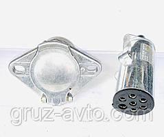 З'єднувач циліндричний 7-контактний вилка+розетка 24 Ст.