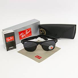 Солнцезащитные очки RAY BAN Wayfarer поляризационные антибликовые UV400 (арт. 4175) черные