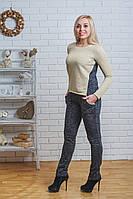 Костюм женский с брюками темно-серый, фото 1