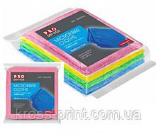 Салфетка микрофибра 30*30см 4шт PRO микс цветная 48шт/уп 18303700