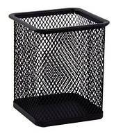 Подставка для ручек металлическая сетка прямоугольная черная ВМ 6201-01 24/96шт/уп