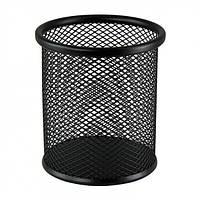 Подставка для ручек металлическая сетка круглая черная ВМ 6202-01 24/96шт/уп