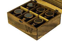 Іменна коробочка для годинника з дерев'яною кришкою. Подарунок коханій дівчині дружині подрузі сестрі начальнику босові