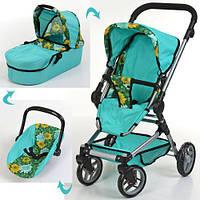 Детская коляска для куклы классика, люлька, поворот. колеса, 9636, фото 1