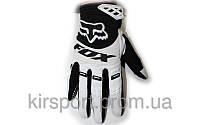 Мотоперчатки текстильные FOX M-4538-BLW 360 (закр.пальцы, р-р M-XL) Белый