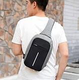 Рюкзак Bobby mini однолямочный через плече з USB зарядним і портом для навушників / рюкзак Боббі, фото 5