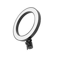 Кільцева селфи лампа LED 20 см зі штативом, фото 1