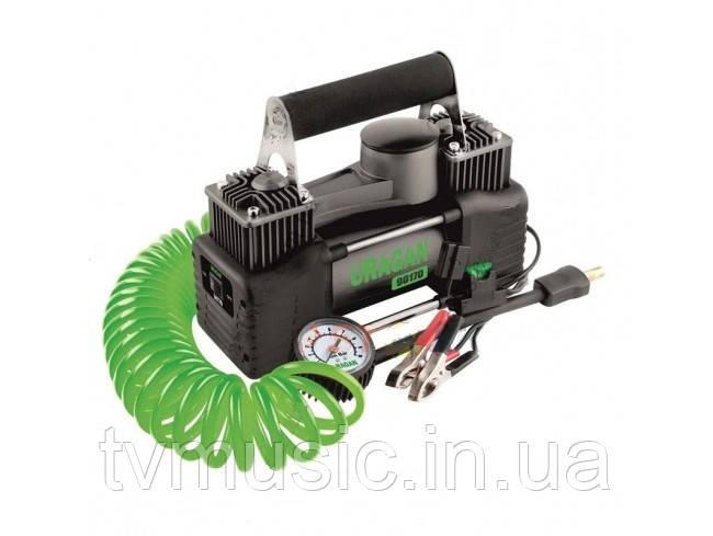 Двухпоршневой автомобильный компрессор Uragan 90170