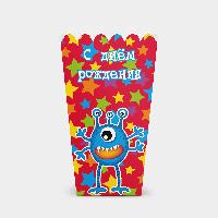 Коробочка для попкорна Монстры С днем рождения