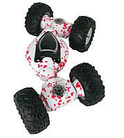 Детская трюковая машинка перевертыш Storm Climbing Car управление рукой Белая с красным