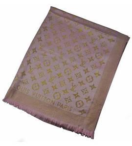 Палантин Metall розовый с золотом (реплика)