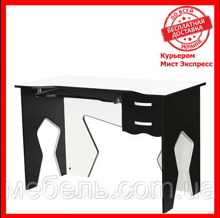 Офисный стол Barsky HG-03 Homework Game White, с ящиками, белый, фото 2