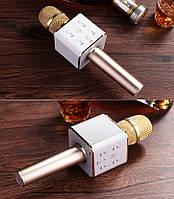 ОРИГИНАЛ! Микрофон караоке с колонками Tuxun Q7 Розовый. Беспроводной, блютуз Лучший детский подарок, фото 1