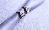 Сережки фірми Xuping з цирконієм (color 95), фото 4