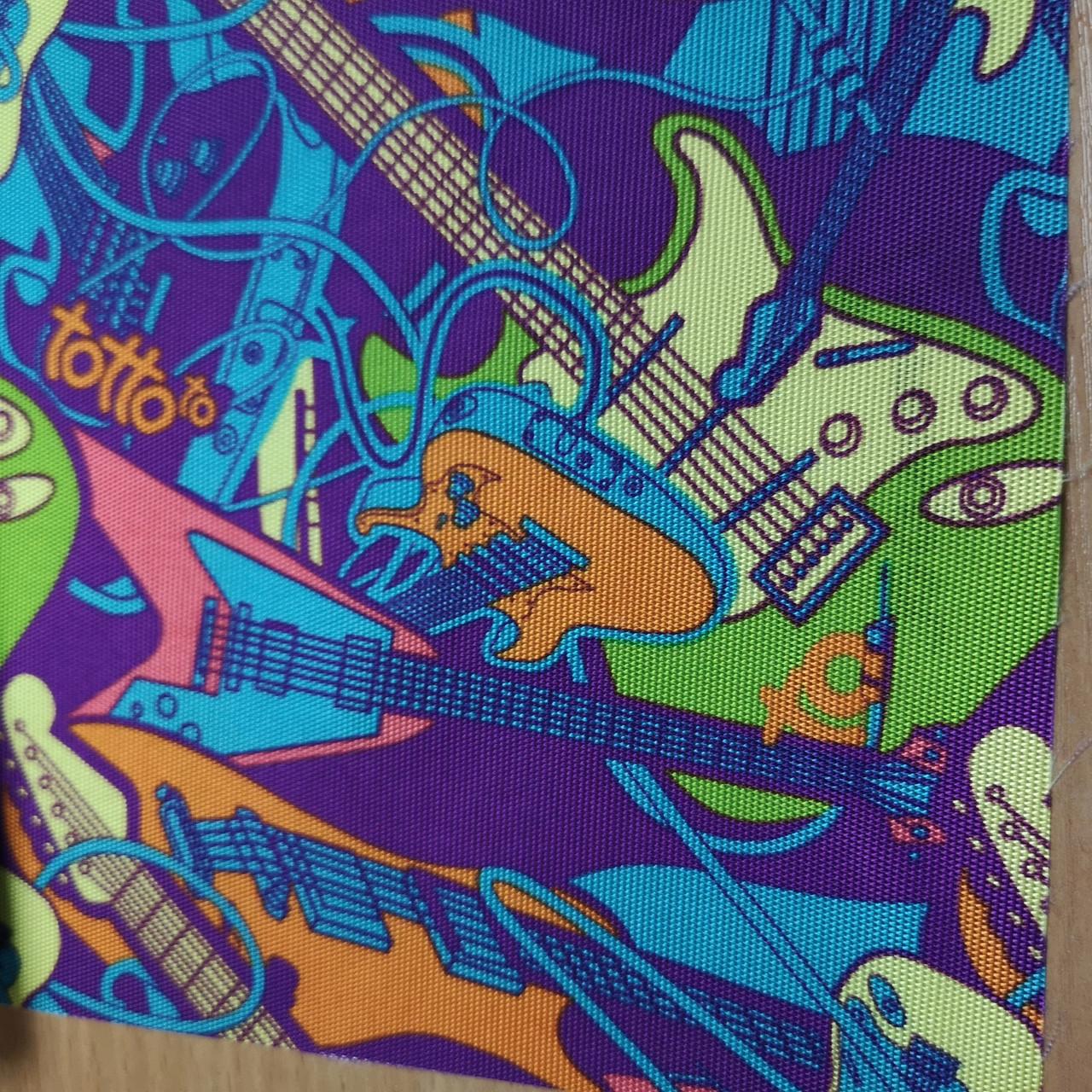 """Ткань оксфорд 420d PU  принт """"гитары"""""""
