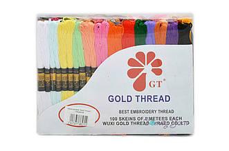 "Нитки мулине ""Gold Thread"", 100цветов"