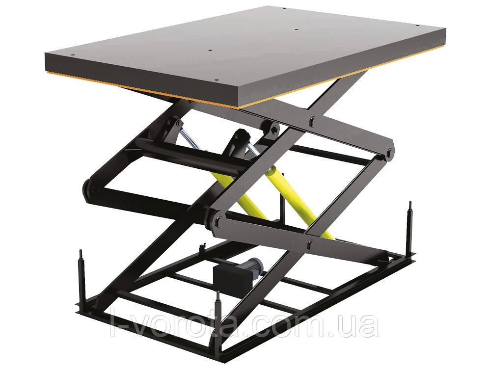 Стол подъемный с двумя парами ножниц DoorHan длинна 1500мм, ширина 1000мм