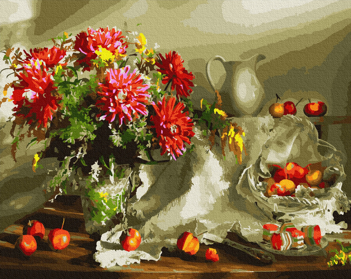 Картина по номерам 40х50см. Щедрий осінній натюрморт GX32296 Brushme