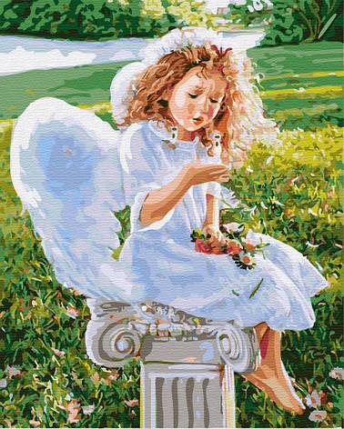 Картина за номерами 40х50см. Маленький ангел GX31186 Brushme, фото 2