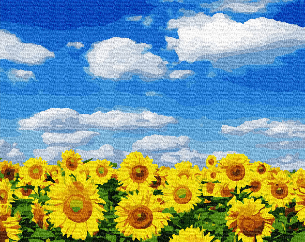 Картина за номерами 40х50см. Соняшникове поле GX32422 Brushme