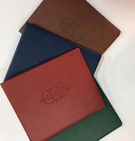 Альбом для монет, кляссер, на кольцах 5 кулис с карманами разных размеров обложка иск. кожа цвета микс