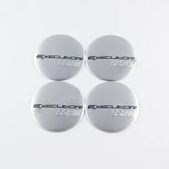 Наклейки для колесных колпачков в легкосплавные диски с логотипом   Executor SSR III хром (56 мм)