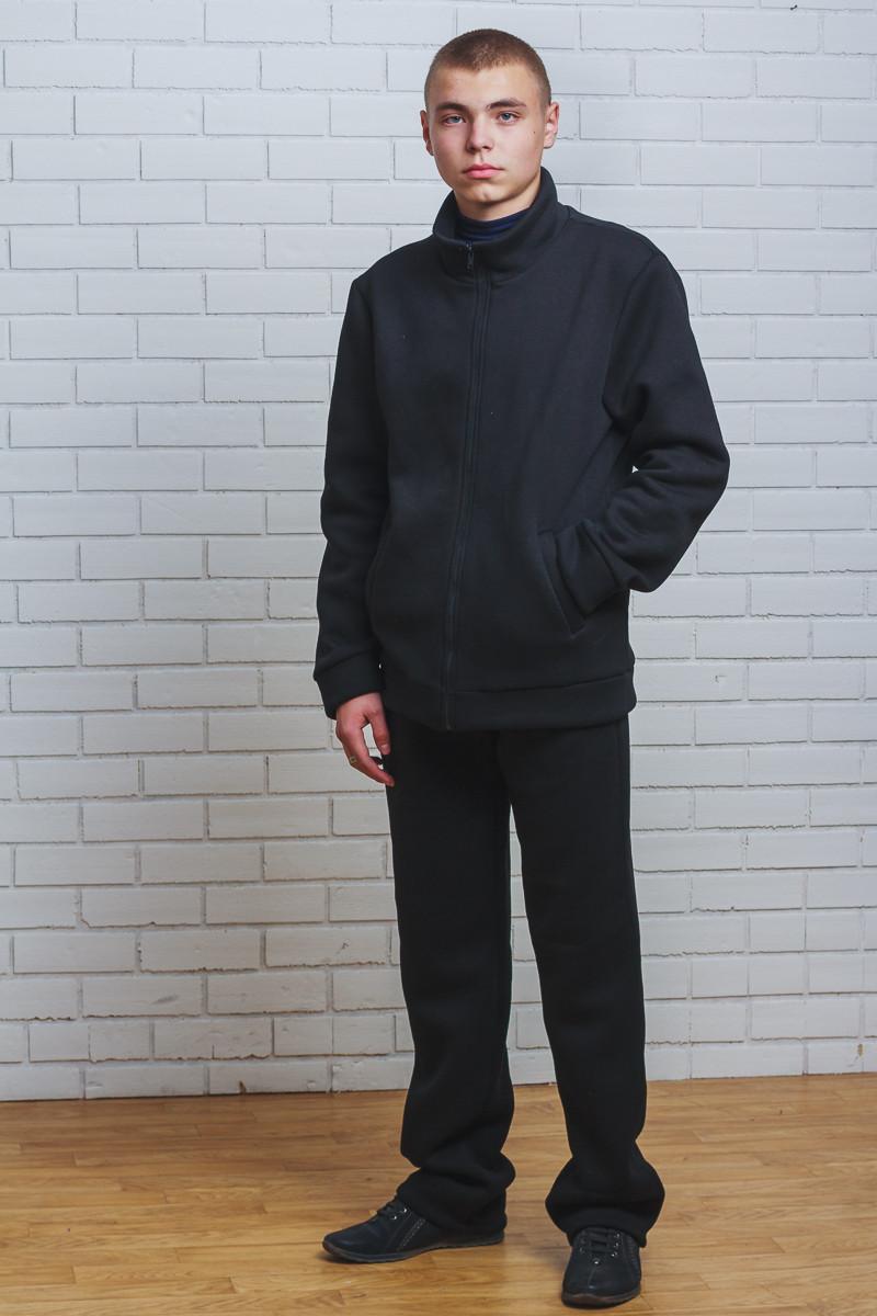 Теплый спортивный костюм мужской черный