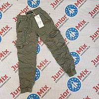 Теплі котонові дитячі штани для дівчаток оптом