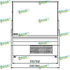 Холодильна кондитерська вітрина MUZA-ДО-1,25 з вбудованим агрегатом, фото 7