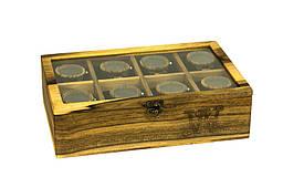 Чоловіча дерев'яна шкатулка для годинників і прикрас. Подарунок хлопцю, чоловікові, батькові, татові, боса, друга, керівнику