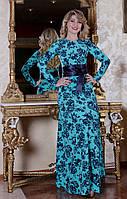 Нарядное длинное женское платье