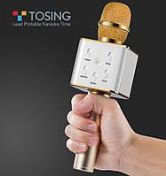 ОРИГИНАЛ! Микрофон караоке Tuxun Q7 со встроенными колонками / Беспроводной. Лучший детский подарок, фото 1