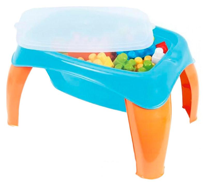 Детский столик с набором конструктора, 42 дет