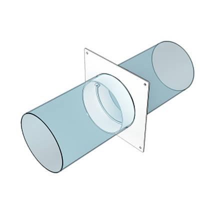 Соединитель Эра круглый с фланцем 125 мм 165 х 165 мм (60-045), фото 2