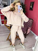Женский стильный спортивный замшевый костюм Разные цвета РР 42-50