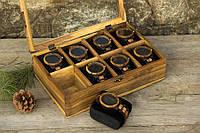 Женская именная деревянная шкатулка для часов и украшений. Подарок девушке жене подруге любимой маме сестре