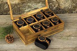 Жіноча іменна дерев'яна шкатулка для годинників і прикрас. Подарунок дівчині дружині подрузі улюбленої мамі, сестрі