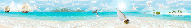 изображение лазурного моря для фартука 13